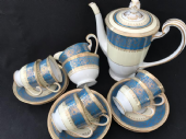 Pretty NORITAKE coffee set for six